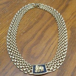 Vintage Necklace elephant theme
